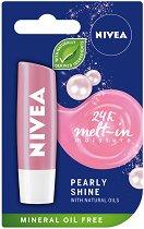 Nivea Pearly Shine - Балсам за устни с перлени и копринени екстракти - мокри кърпички