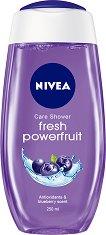 Nivea Fresh Powerfruit Shower Gel - Душ гел с антиоксиданти и аромат на боровинка - мокри кърпички