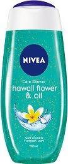 Nivea Hawaii Flower & Oil Shower Gel - Душ гел с маслени перли и аромат на франджипани -