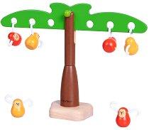 Подреди маймунките - Дървена играчка за баланс - играчка