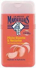 Le Petit Marseillais - Peche Blanche & Nectarine - Душ гел с екстракт от бяла праскова и нектарина -