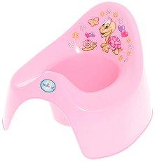 Детско гърне - Костенурка - Цвят розов - гърне