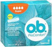o.b. ProComfort Super Tampons - Дамски тампони в опаковки от 8 ÷ 32 броя - крем