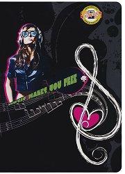 Ученическа тетрадка - Music Makes You Free : Формат А4 с бели листове - 60 листа -