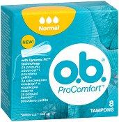 o.b. ProComfort Normal Tampons - Дамски тампони в опаковки от 8 ÷ 32 броя - продукт