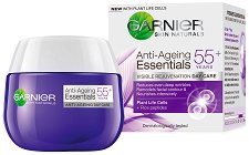 "Garnier Anti-Ageing Essentials Daily Care - 55+ - Дневен крем против бръчки от серията ""Garnier Essentials"" -"