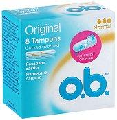 o.b. Original Normal Tampons - Дамски тампони в опаковка от 8 броя -