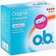 o.b. Original Super Tampons - Дамски тампони в опаковки от 8 ÷ 16 броя - гел