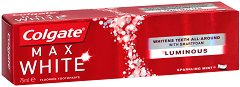Colgate Max One White Luminous - Избелваща паста за зъби -