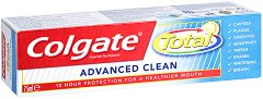 Colgate Total Advanced Clean - Паста за зъби за цялостна грижа - тоалетно мляко