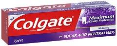 Colgate Maximum Cavity Protection Whitening - Избелваща семейна паста за зъби против кариеси - паста за зъби