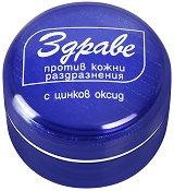 Крем Здраве - С цинков оксид против кожни раздразнения - сапун