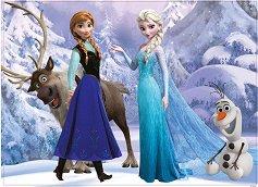 Замръзналото кралство - Двулицев пъзел - пъзел