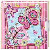 Таен дневник - Розови пеперуди - творчески комплект