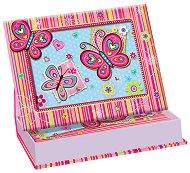 Рамка за снимка - Розови пеперуди - Комплект с таен дневник - творчески комплект