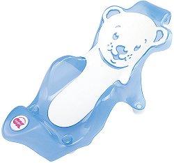 Анатомична подложка за къпане - Buddy - Цвят прозрачно син - продукт