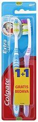 Colgate Extra Clean - Четка за зъби 1 + 1 подарък - дезодорант