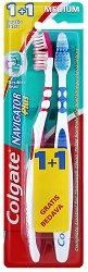 Colgate Navigator Plus - Medium - Четка за зъби 1 + 1 подарък - шампоан