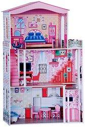 Обзаведена къща за кукли с асансьор - Играчка от дърво - играчка