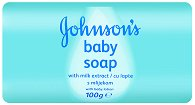 Johnson's Baby Soap with Milk Extract - Бебешки сапун с млечен протеин - душ гел
