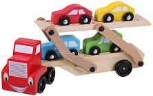Автовоз с колички - Дървена играчка - играчка