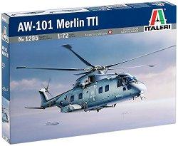 Военен хеликоптер - AW-101 Merlin TTI - Сглобяем авиомодел - макет