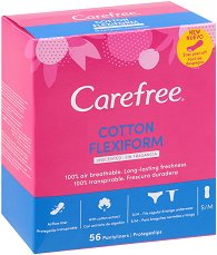 Carefree Flexiform - Ежедневни дамски превръзки в опаковка от 56 броя - балсам
