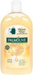 """Palmolive Naturals Milk & Honey Liquid Handwash Refill - Пълнител за течен сапун с мед и мляко от серията """"Naturals"""" - сапун"""