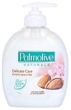 """Течен сапун - Delicate Care - С бадем и алое вера от серията """"Palmolive Naturals"""" - сапун"""