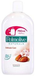 """Течен сапун с бадем и алое вера - Delicate Care - Пълнител за опаковка с помпичка от серията """"Palmolive Naturals"""" - сапун"""