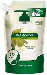 """Течен сапун с маслина и алое вера - Ultra Moisturizing - Пълнител за опаковка с помпичка от серията """"Palmolive Naturals"""" - сапун"""