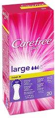Carefree Plus Large Fresh - Ежедневни дамски превръзки в опаковка от 20 броя - продукт
