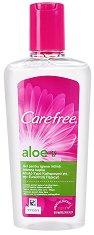 Carefree Aloe Intimate Wash - Интимен шампоан с алое вера - дамски превръзки