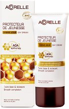 """Антиоксидантен дневен крем с цветен прашец и прополис - За нормална към суха кожа от серията """"Acorelle Skincare AOA"""" -"""