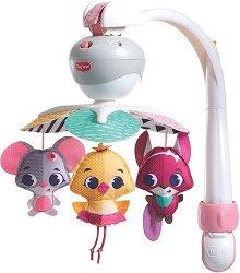 Музикална въртележка 3 в 1 - Take Along Mobile Tiny Princess Tales - Играчка за бебешко креватче, кошче или количка - играчка