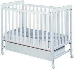 Легло-кошара - Basic 1 Babymobe - Цвят бял -