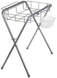Стойка за бебешка вана за къпане - Комплект с метален кош и пластмасова кошничка - продукт