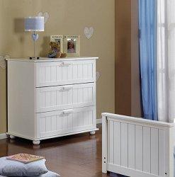 Скрин - Comi - 3 Babymobel white - Цвят бял -