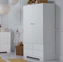 Двукрилен гардероб с 4 чекмеджета - А 1414 white -