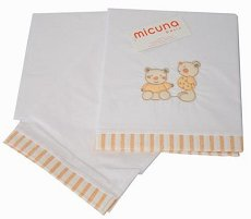 Спален комплект за бебешко креватче - Мече - От 3 части, за матрак с размери 60 x 120 cm -