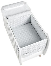 Обиколник и покривало за креватче - Harmony Nordic White - Спален комплект от 2 части -