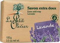 Le Petit Olivier Extra Mild Soap Lavender - Нежен омекотяващ сапун с лавандула - шампоан