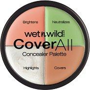 "Wet'n'Wild Cover All Concealer Palette - Палитра с коректори от серията ""Cover All"" - гел"