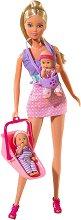"""Детегледачка с две бебета - Кукли с аксесоари от серията """"Steffi Love"""" -"""
