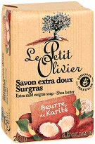 Le Petit Olivier Extra Mild Surgras Soap Shea Butter - Нежен подхранващ сапун с масло от карите - шампоан