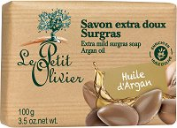 Le Petit Olivier Extra Mild Surgras Soap Argan Oil - Богат липиден сапун с масло от арган - сапун