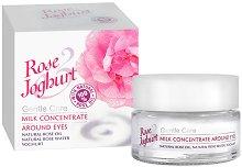 Млечен концентрат за около очите с розово масло и йогурт -