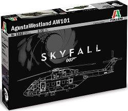 "Военен хеликоптер - AW101 ""SKYFALL""  - Сглобяем авиомодел - макет"