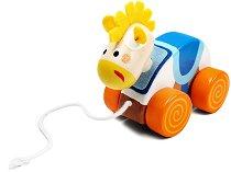 Магаренце - Дървена играчка за дърпане - детски аксесоар