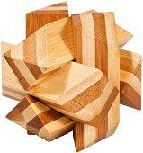 Ъглов възел - 3D пъзел от бамбук -